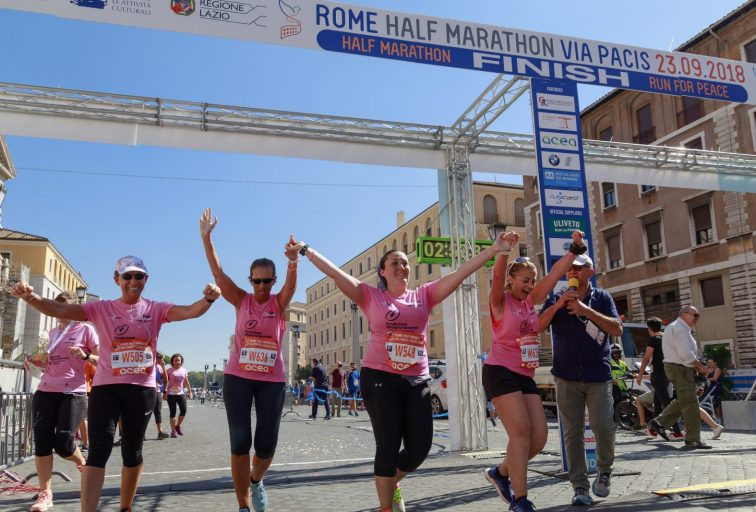 Rome half marathon – Breast cancer