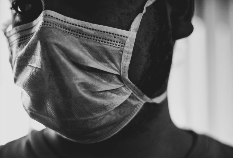 grayscale photo of woman in panty