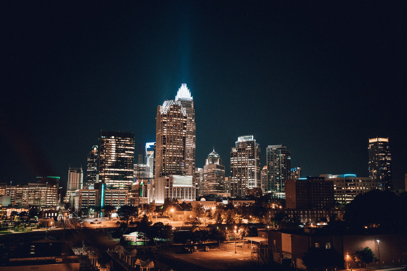 photography of building during nighttime