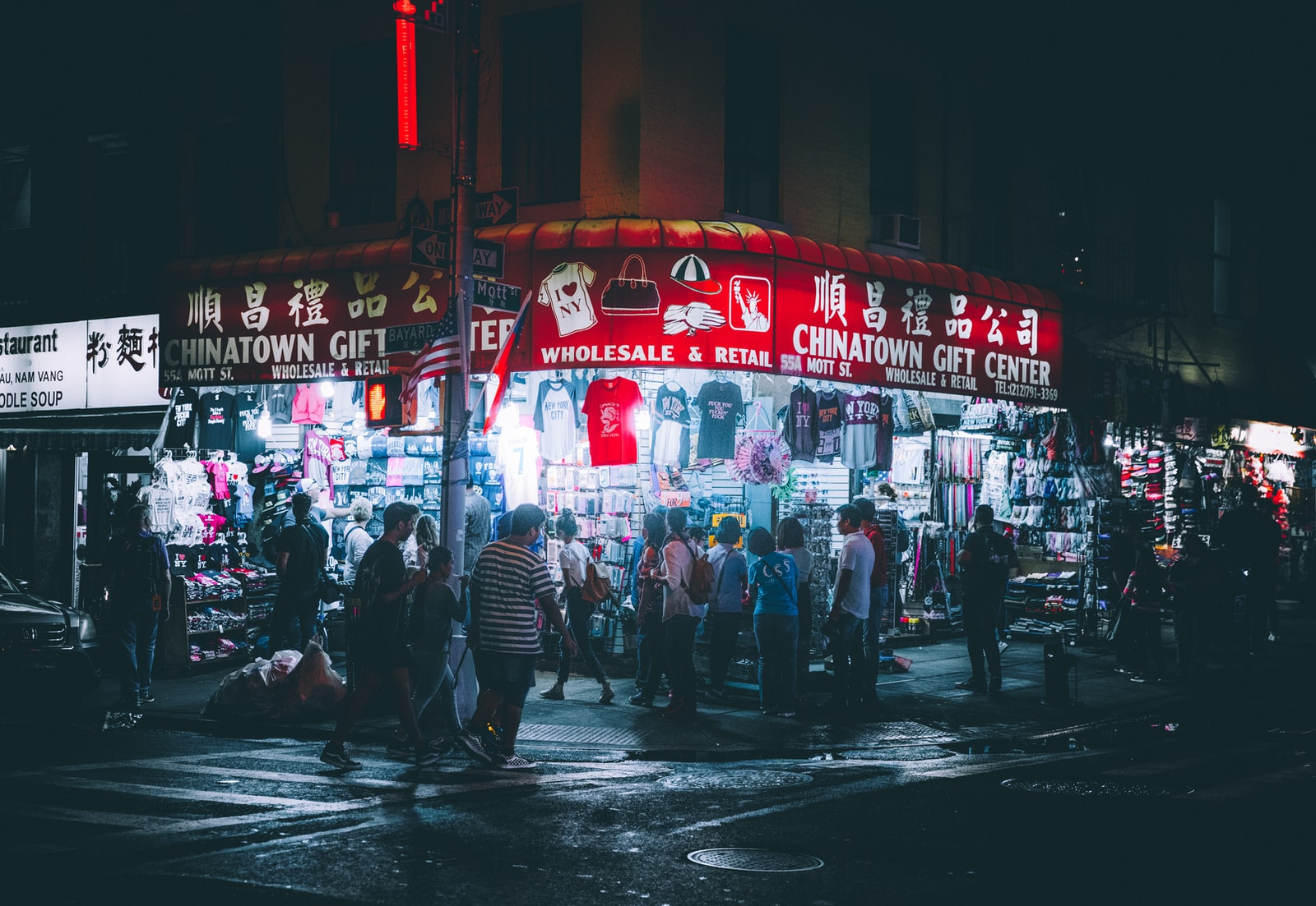 people in china town